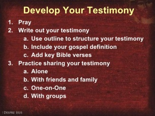 Testimony 1